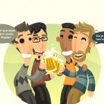 Pessoas brindando (Cheers)