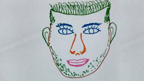 Collaborative face drawing 2