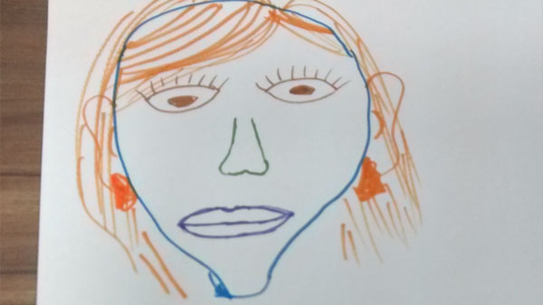 Collaborative face drawing 3