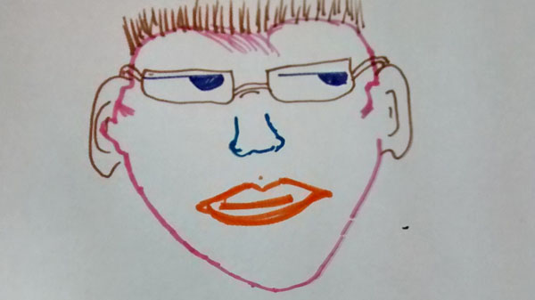 Collaborative face drawing 4