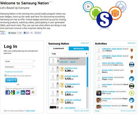 Samsung Nation - Gamificação Externa